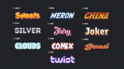 مجموعه 10 افکت متن برای لوگوی بازی