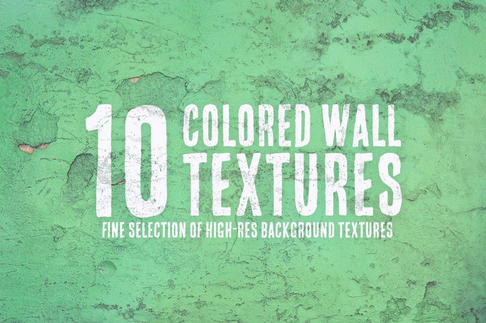 مجموعه 10 تکسچر دیوار رنگی