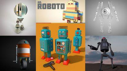مجموعه مدل های سه بعدی ربات Robots