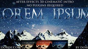 پروژه افترافکت افتتاحیه سینمایی Cinematic Opener