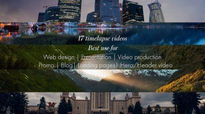 17 ویدیو تایم لپس 3K از طبیعت و مناظر شهری