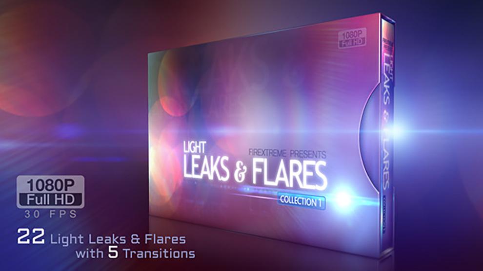 مجموعه موشن گرافیک Leaks and Flares Pack