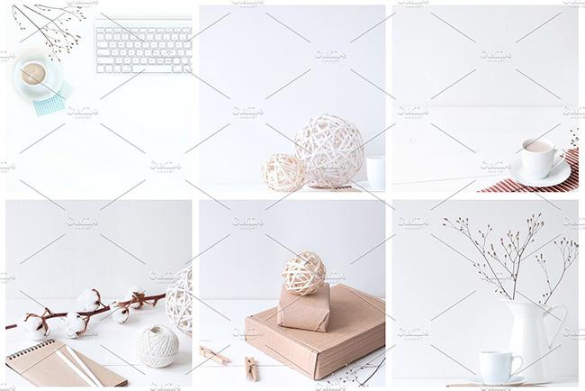مجموعه 12 تصویر زمینه اینستاگرام با استایل زمستانی