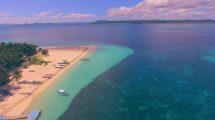 فوتیج هوایی از اقیانوس و ساحل