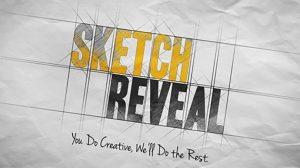 پروژه افترافکت نمایش لوگو با طرح اسکیس Sketch Reveal