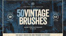 مجموعه 50 براش فتوشاپ با سبک کلاسیک Vintage