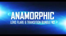 مجموعه فوتیج شعله لنز و ترانزیشن نوری آنامورفیک
