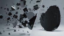 پروژه افترافکت نمایش لوگو با قطعات شکسته سهبعدی