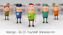 پروژه افترافکت انیمیشن کاراکتر جورج