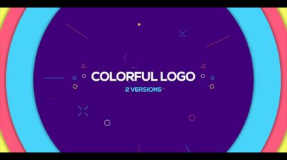 پروژه افترافکت نمایش لوگو رنگی