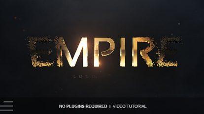پروژه افترافکت نمایش لوگو Empire