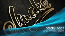 پروژه افترافکت نمایش لوگو طلایی 2