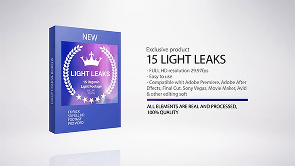مجموعه افکتهای نشت نوری Light Leaks