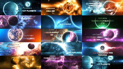 پروژه افترافکت سیارات سیستم خورشیدی به سبک فانتزی