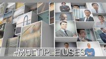پروژه افترافکت نمایش لوگو شرکتی با موزاییک سهبعدی تصاویر