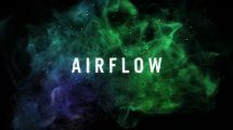 پروژه افترافکت نمایش لوگو پارتیکلی Airflow