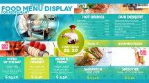 پروژه افترافکت تیزر تبلیغاتی صفحه نمایش رستوران
