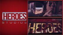 پروژه افترافکت نمایش لوگو Heroes