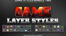 باندل 2 مجموعه 32 استایل لایه بازی برای فتوشاپ