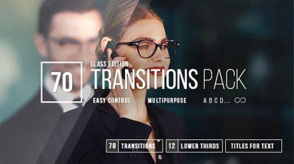 پروژه افترافکت مجموعه 70 ترانزیشن ویدیویی