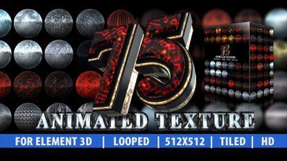 پروژه افترافکت 75 تکسچر متحرک برای Element 3D