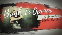 پروژه افترافکت افتتاحیه قلم نقاشی Brush in Opener