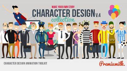 پروژه افترافکت مجموعه ابزار طراحی انیمیشن کاراکتر