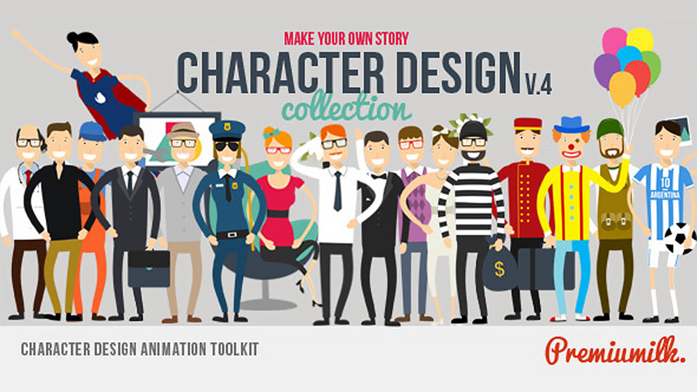 مجموعه کاراکتر های طراحی انیمیشن