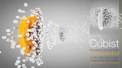 پروژه سینما فوردی نمایش لوگو Cubist
