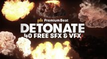 فوتیج ویدیویی انفجار Detonate همراه با افکت صوتی