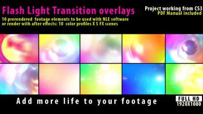 مجموعه ویدیوی موشن گرافیک ترانزیشن فلاش نور بهمراه پروژه افترافکت