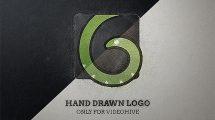 پروژه افترافکت نمایش لوگو با اسکیس دستی