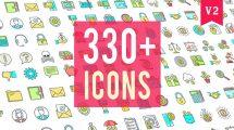 پروژه افترافکت مجموعه 330 انیمیشن آیکون