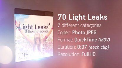 مجموعه ویدیوی موشن گرافیک Light Leaks & Bokehs Package