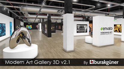 پروژه افترافکت گالری هنری Modern Art Gallery 3D