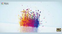 پروژه افترافکت نمایش لوگو Particles Splash
