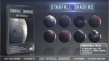 مجموعه 250 متریال سه بعدی Starfall برای Element 3D