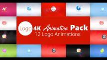 پروژه افترافکت مجموعه انیمیشن نمایش لوگو 4K