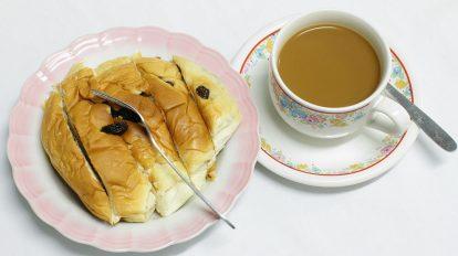 فوتیج استاپ موشن صبحانه به صرف قهوه و نان