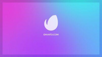 پروژه افترافکت نمایش لوگو با اشکال رنگی