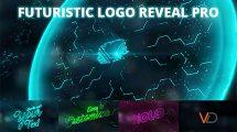 پروژه افترافکت نمایش لوگو با برخورد انرژی Futuristic Energy Logo Reveal