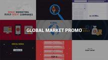 پروژه افترافکت تیزر تبلیغاتی بازار جهانی