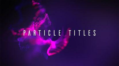 پروژه افترافکت نمایش عناوین Particle Titles