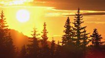 مجموعه فوتیج ویدیویی غروب خورشید