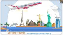 پروژه افترافکت نمایش لوگو World Travel