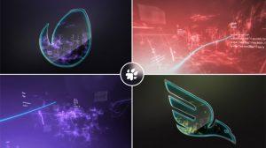 پروژه افترافکت نمایش لوگو در گرداب دیجیتال
