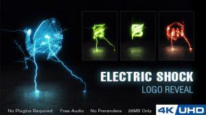 پروژه افترافکت نمایش لوگو با شوک الکتریکی