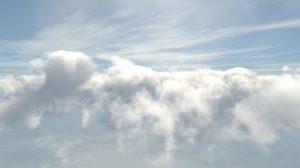 ویدیوی موشن گرافیک پرواز در میان ابرها
