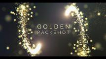 پروژه افترافکت نمایش لوگو طلایی Golden Packshot