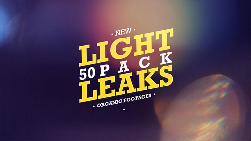 مجموعه ۵۰ ویدیوی موشن گرافیک نشتی نور Light Leaks